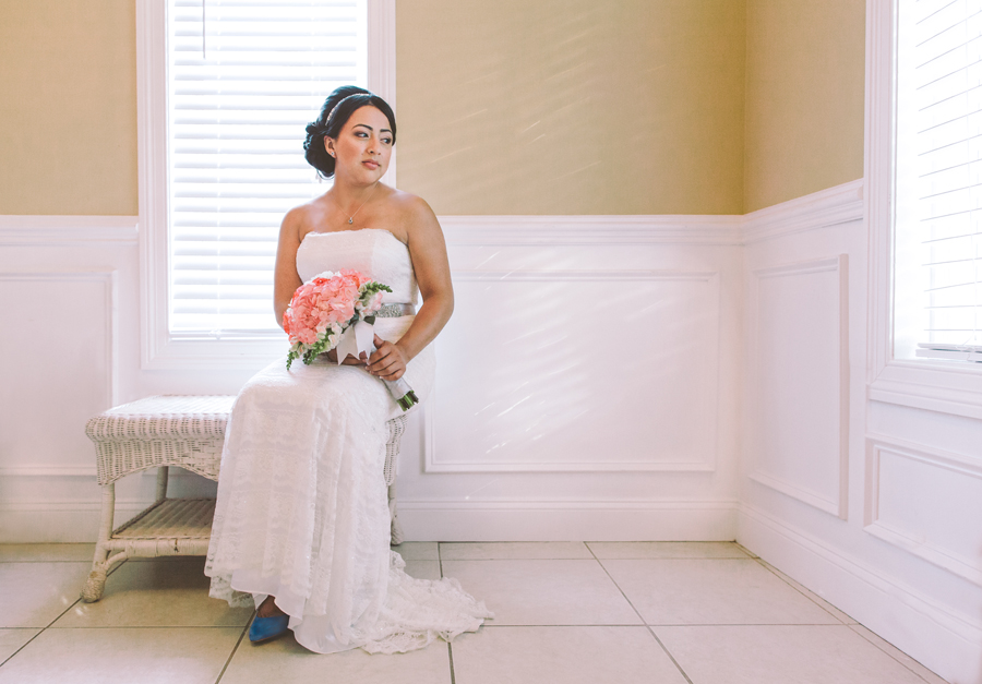 Bride poses for portraits by Monmouth County New Jersey Wedding Photographers Julianne and Steven The Markows