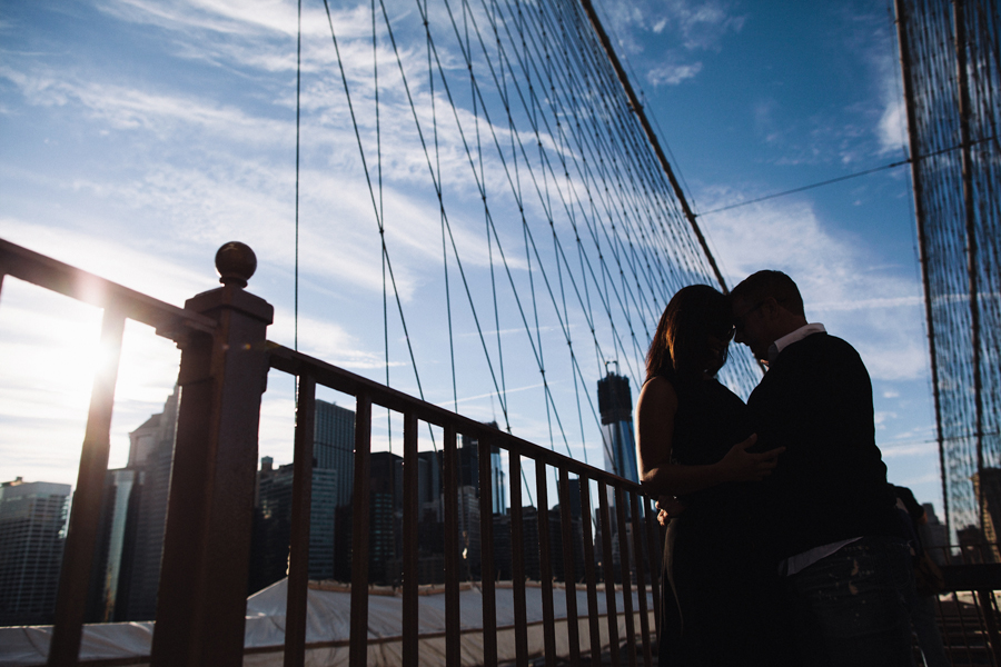 nyc brooklyn bridge engagement photographers