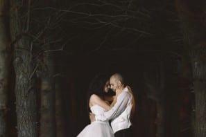 Brenizer Method stitched panorama wedding photo