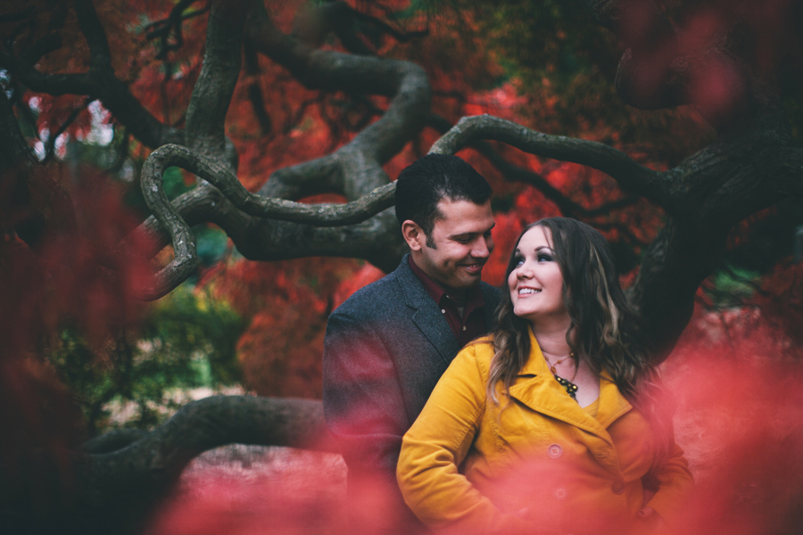 autumn engagement photography session