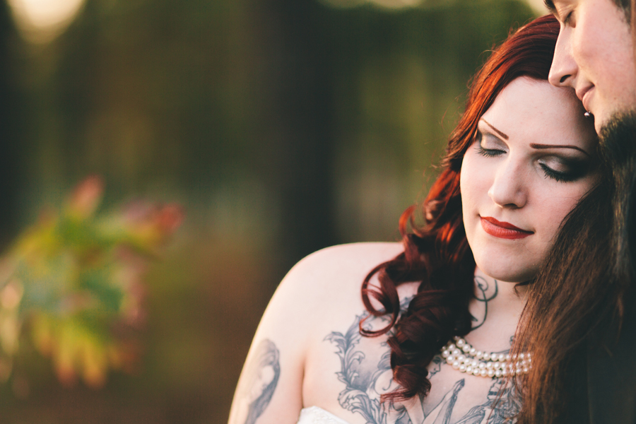 romantic wedding day portraits