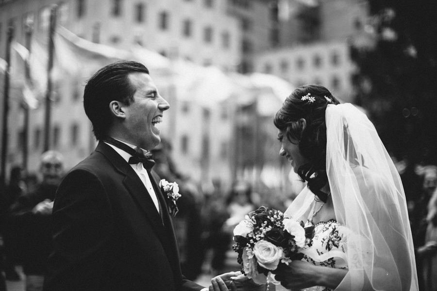 emotional first look photo during wedding in nyc