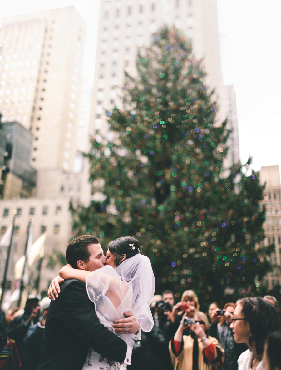 wedding ceremony at rockefeller plaza 12/12/12 12:12pm