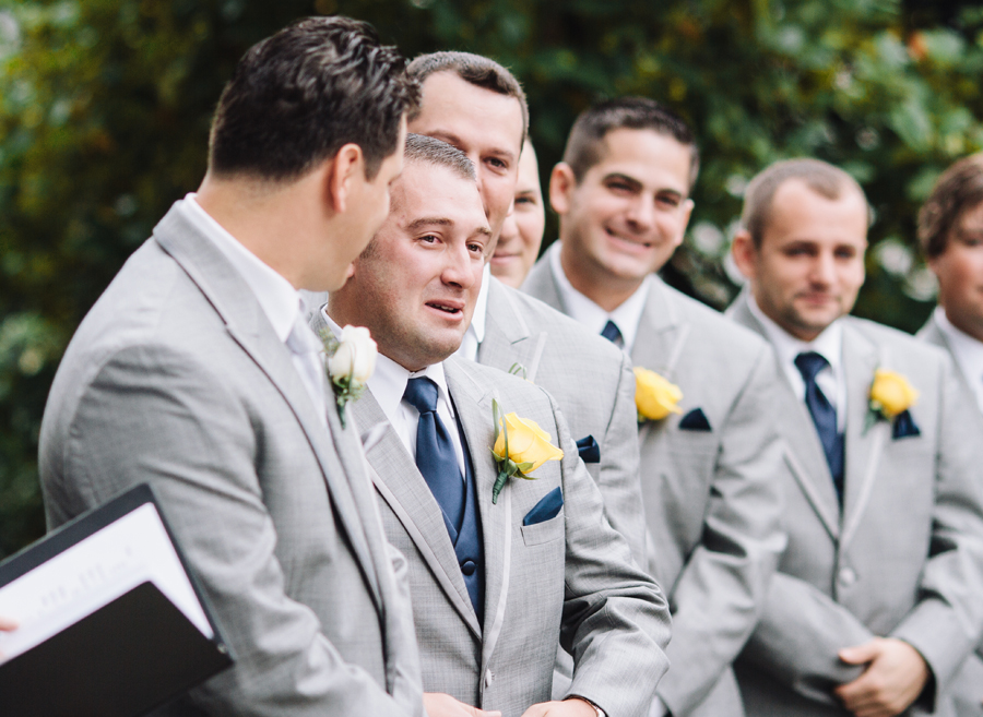best man cries as bride walks up aisle