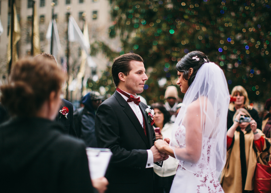 Wedding in Rockefeller Center Photos