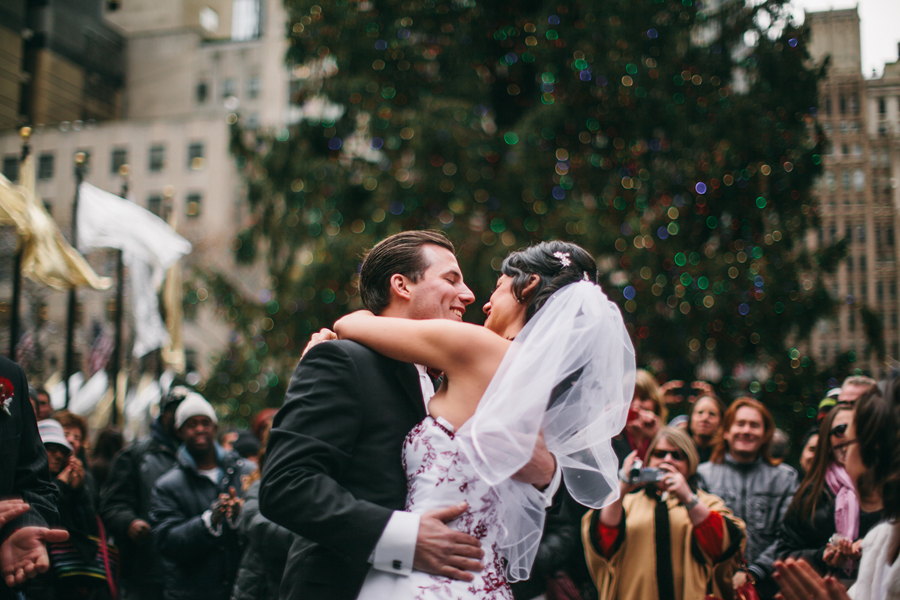 Rockefeller Plaza Elopement Photos