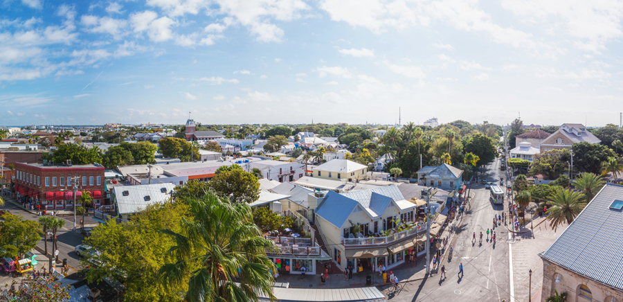 panorama photo of key west fl