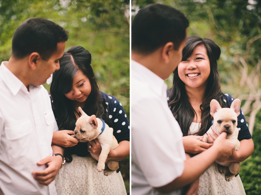 Engagement Pictures with dog NJ