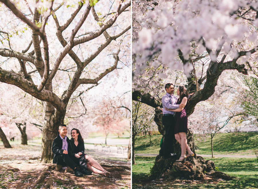 Engagement Photos with Cherry Blossoms NJ