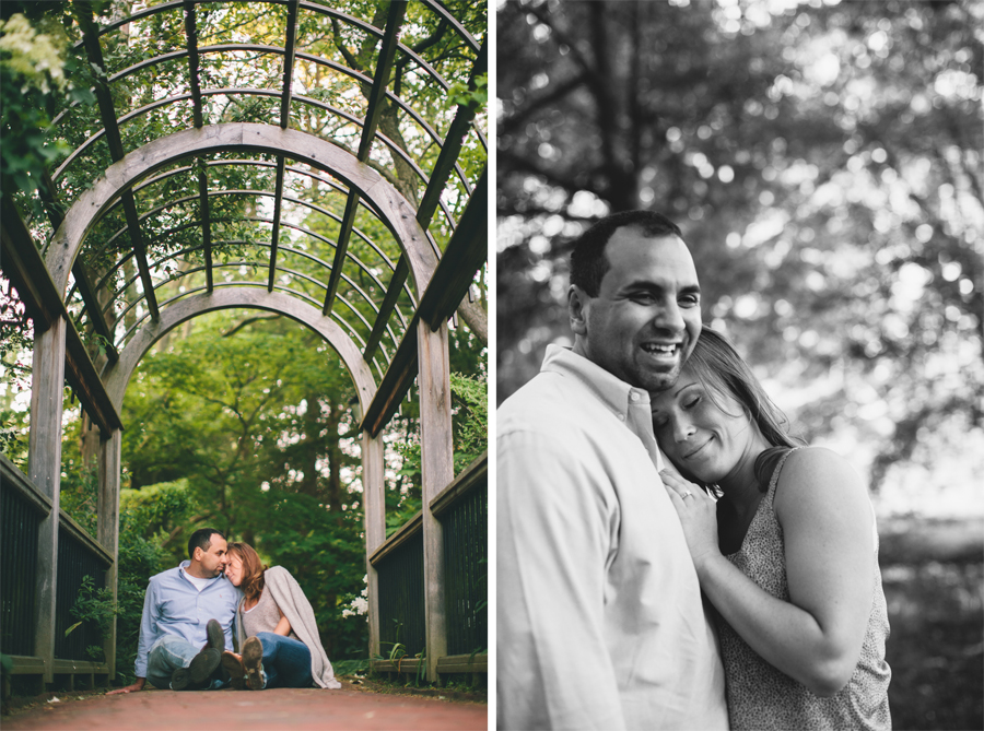 Engagement Photos at Sayen Gardens Hamilton NJ