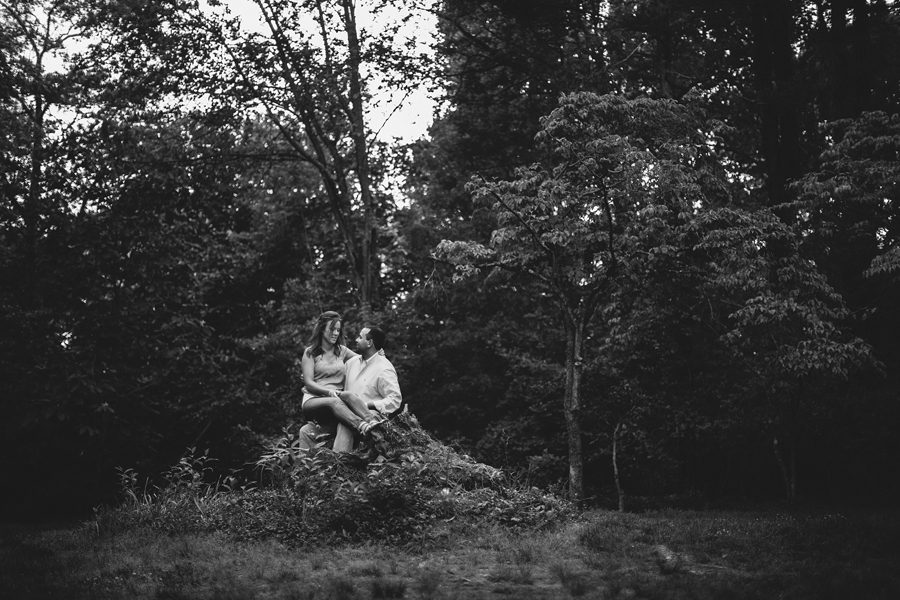 Sayen Gardens Hamilton NJ Engagement Photo