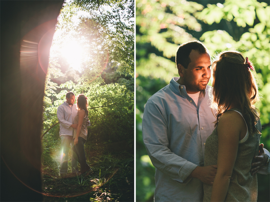 Sayen Gardens Hamilton NJ Engagement Photos