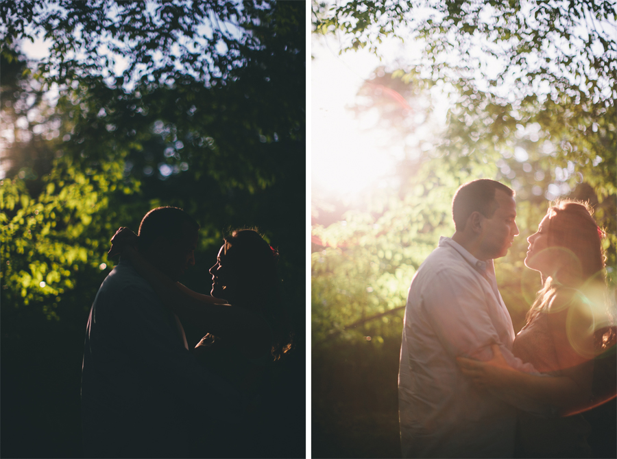 Hamilton NJ Sayen Gardens Engagement Photos