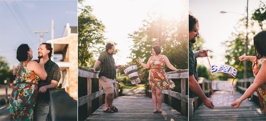 Save the date photos during engagement session in NJ