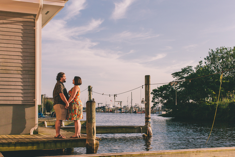 NJ engagement photos in a marina