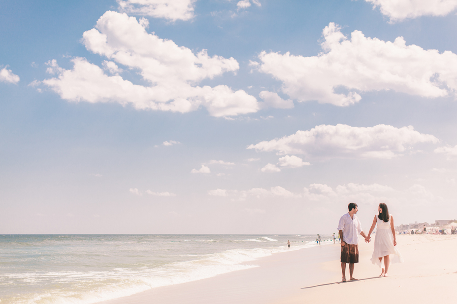 New Jersey Beach Engagement Photos in LBI