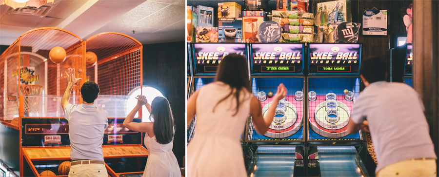 Boardwalk Arcade Engagement Photo