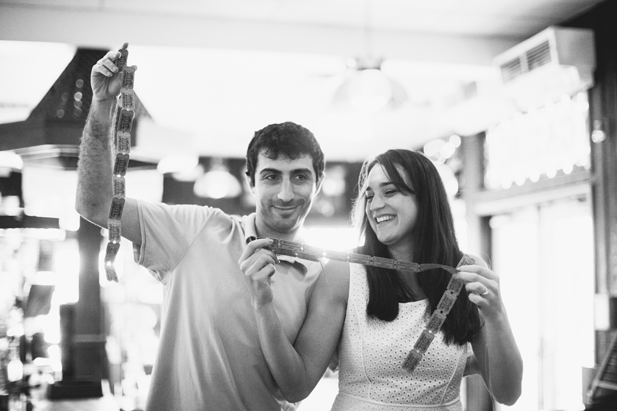 Fun Boardwalk Arcade Engagement Photo