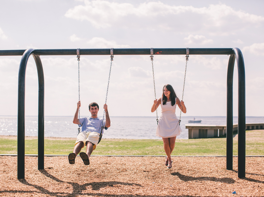 Fun LBI Engagement Photo