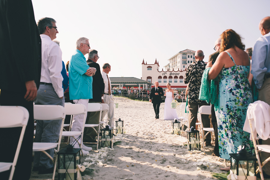 Ocean City, NJ Beach Wedding Ceremony