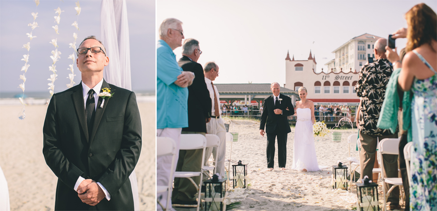 NJ Beach Wedding Ceremony Photos