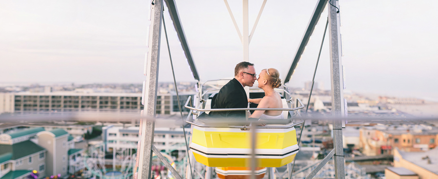 Ferris Wheel Wedding Photos in NJ