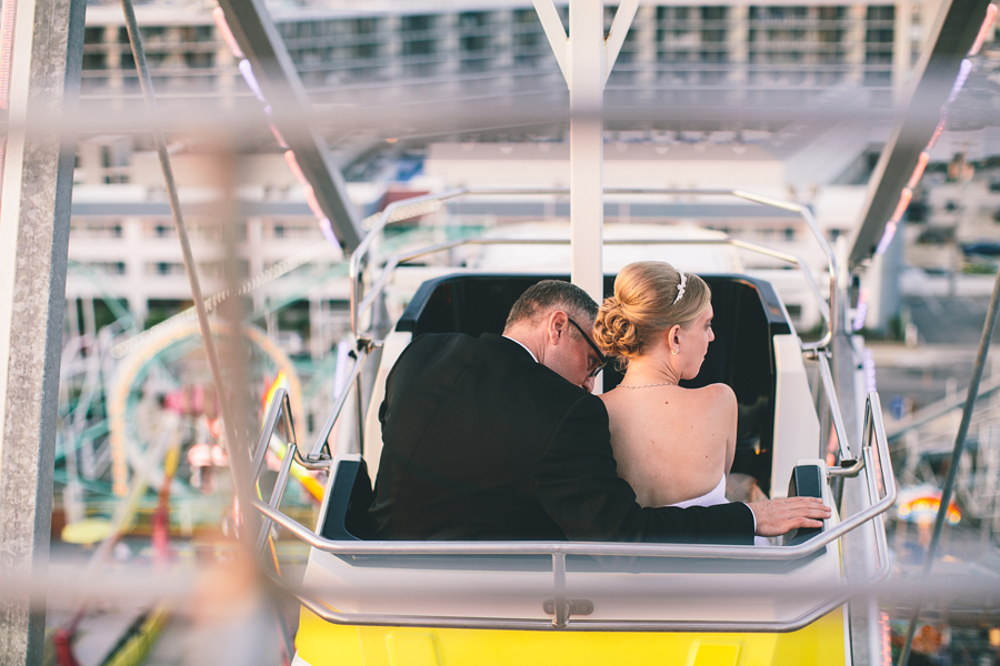 Amusement Park Wedding Photos