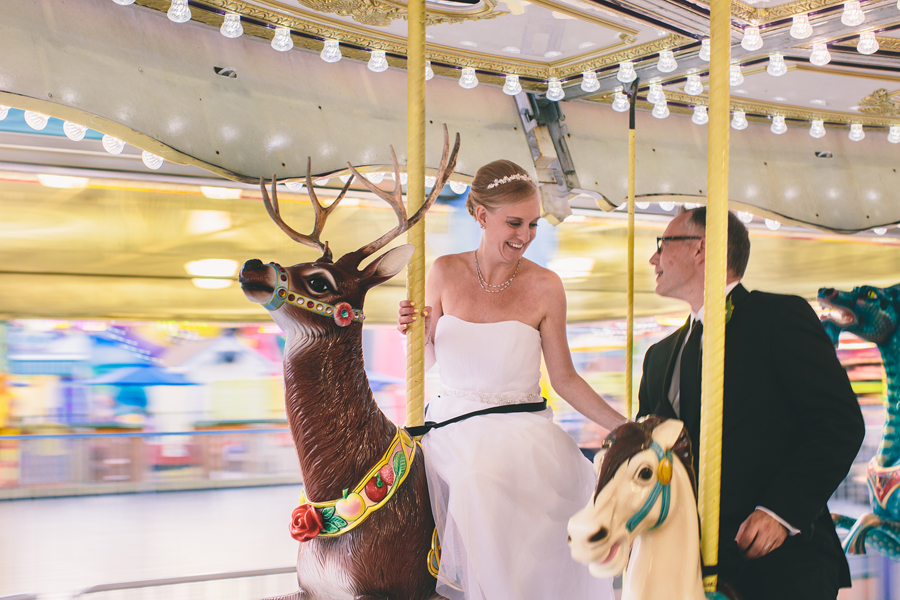 Wedding Photos on a Carousel