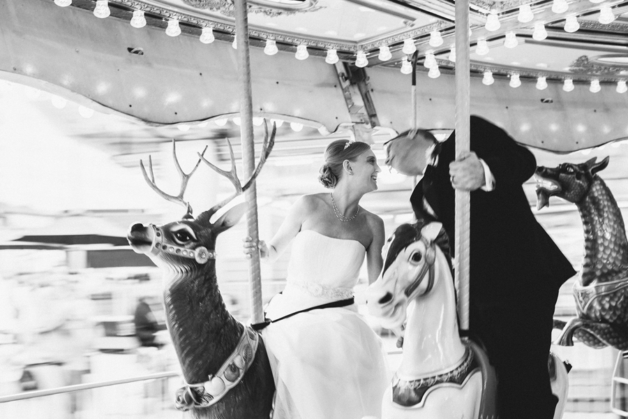 Wedding Photos at an amusement park in NJ