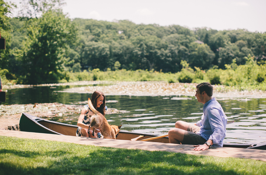 Engagement Photos in a canoe