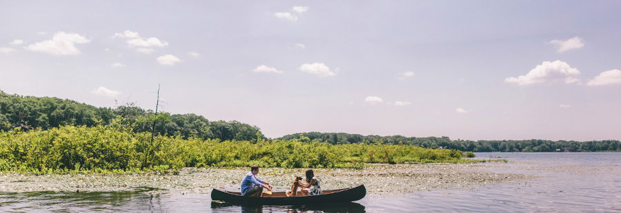 Canoe Engagement Photos at Cedar Lake NJ
