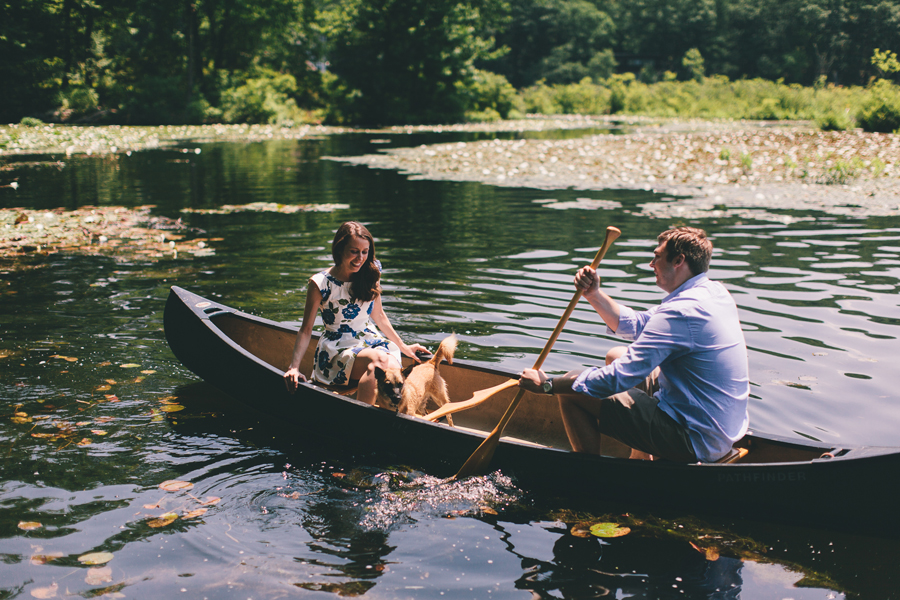 Engagement Photos in a boat
