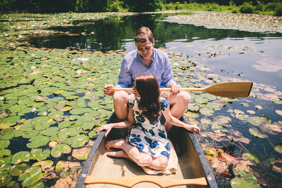 Cedar Lake Canoe Engagement Photos