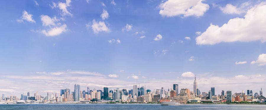New York Skyline Engagement Photos