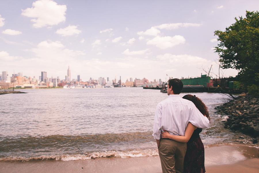 Hoboken Beach Engagement Photos