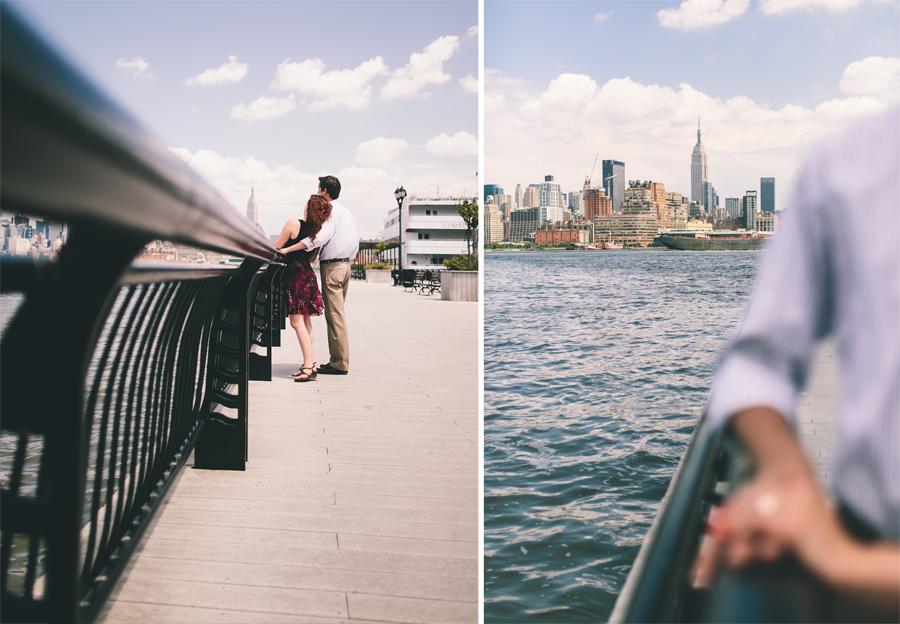 Hoboken Pier Engagement Photos