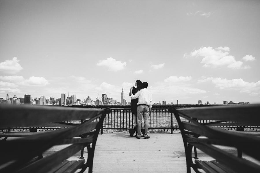 Creative Hoboken Engagement Photos