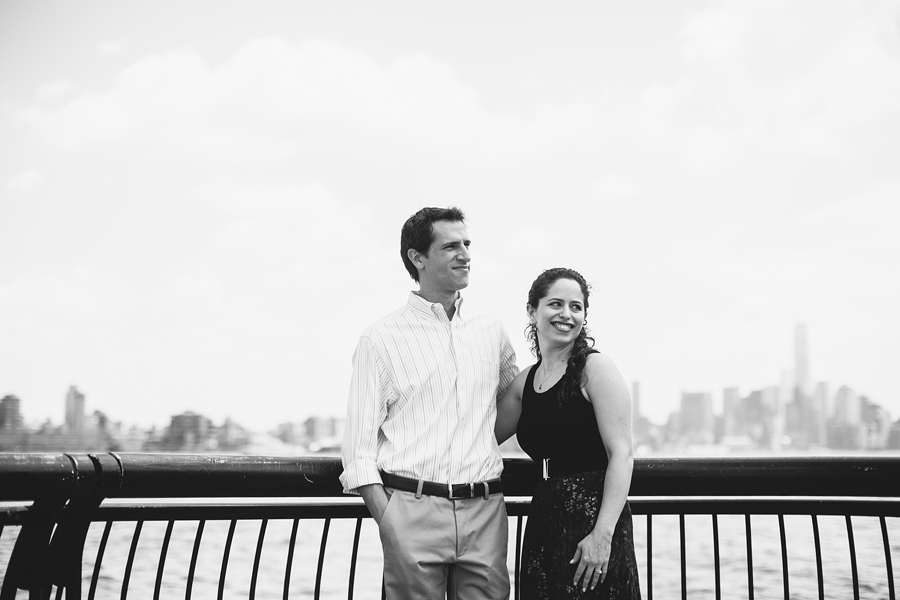 Black and White Engagement Photos Hoboken, NJ