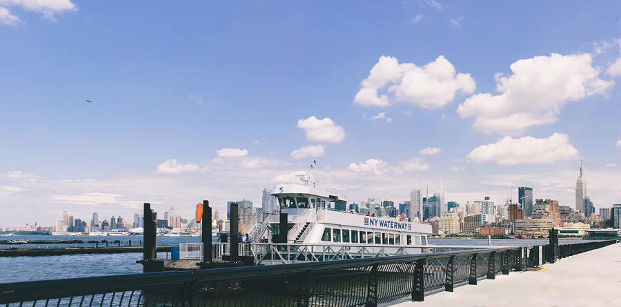 NY Ferry Engagement Photos Hoboken, NJ