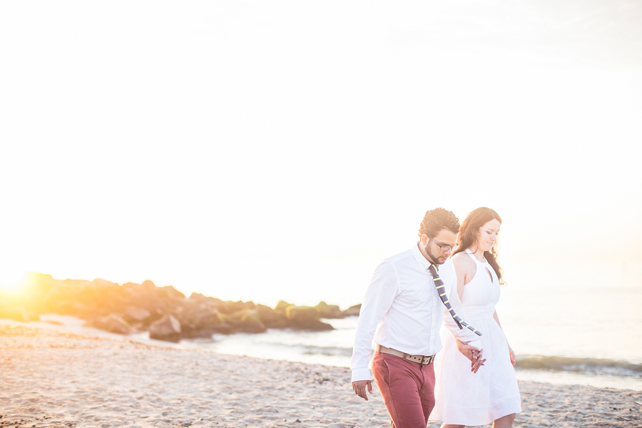 Engagement Photos at the shore