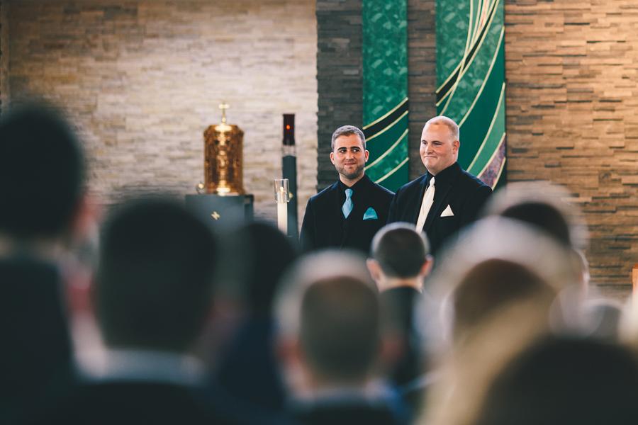 Wedding ceremony at St. aloysius Jackson, NJ