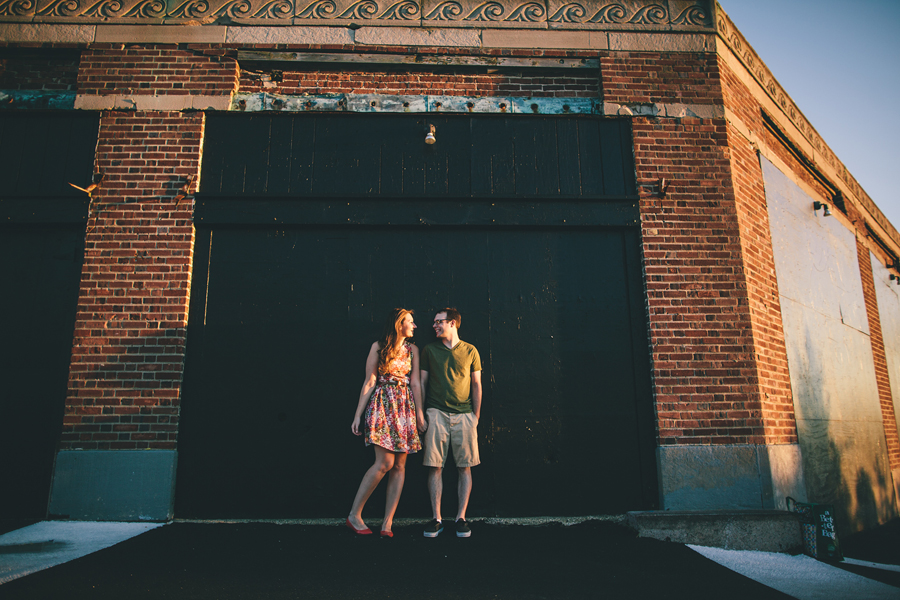 Sunset Engagement Photos in Asbury Park, NJ