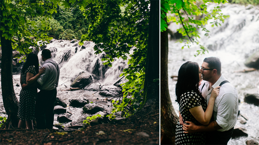 Engagement Photos by waterfall New York