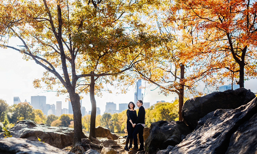 Central Park Engagement Photos