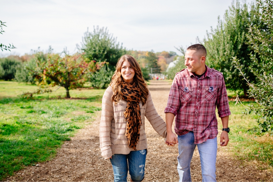 Engagement Session at an Apple Orchard NJ