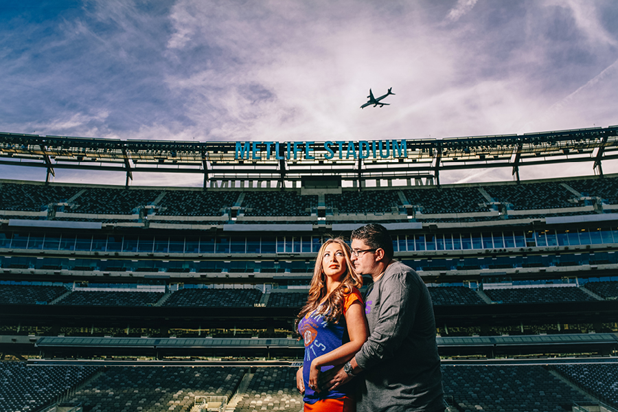 Metlife Stadium Engagement Photos