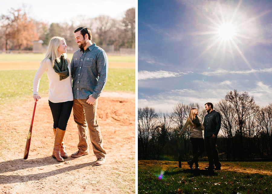 Baseball Themed Engagement NJ