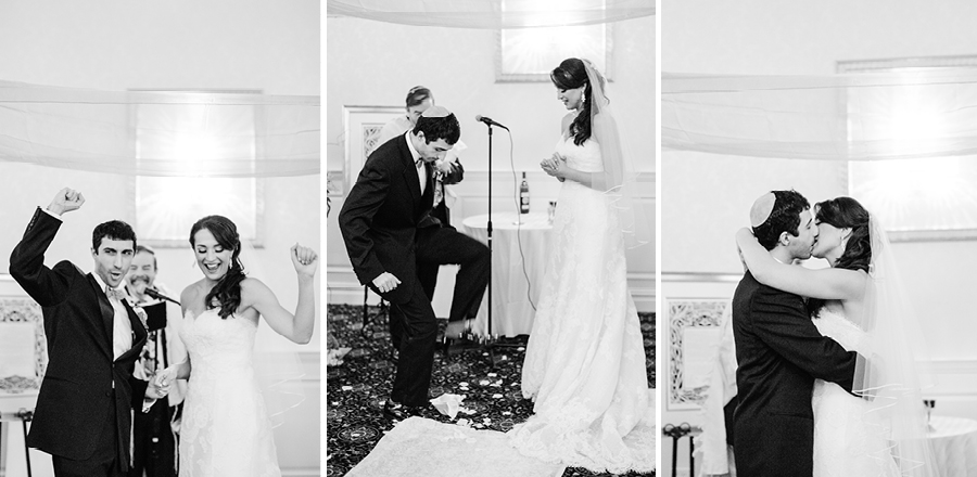 Glass Stomping Jewish Wedding Photo