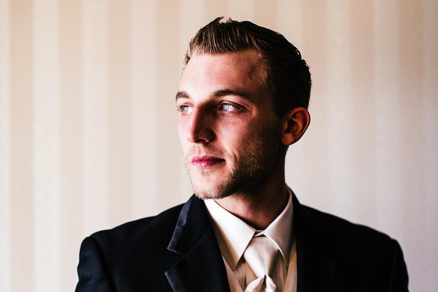 Madison Hotel Wedding groom portrait