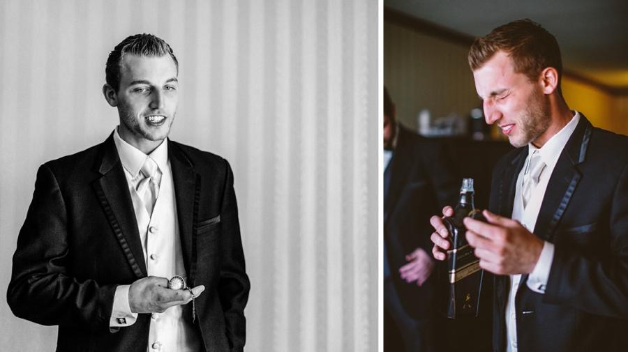 Madison Hotel Wedding groom preparation photos